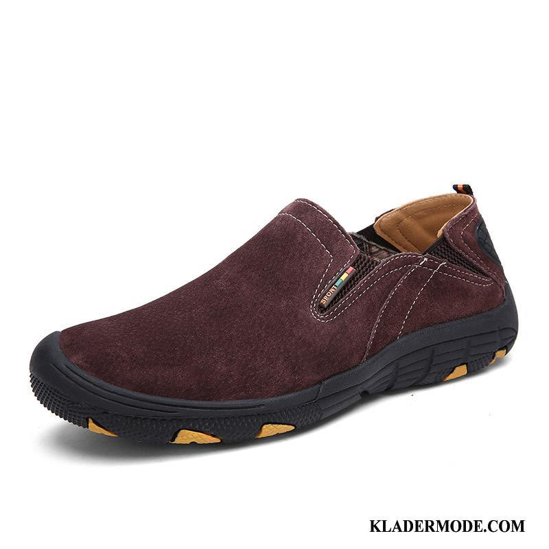 Loafers Herr Mode Slip On Män Casual British Fyra Årstider Brun